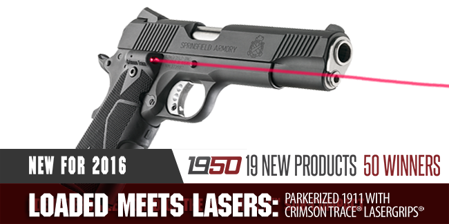 Loaded Meets Lasers: Parkerized 1911 with Crimson Trace® Lasergrips®